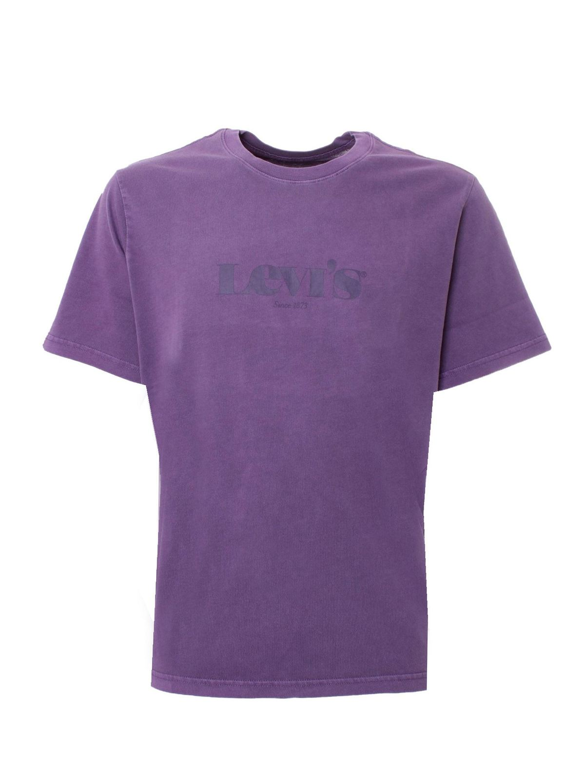 Levi's Cottons RELAXED FIT T-SHIRT IN PURPLE