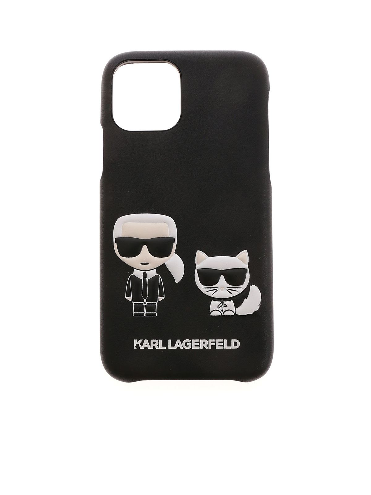 Karl Lagerfeld KARL AND CHOUPETTE IPHONE 11PRO COVER IN BLAC