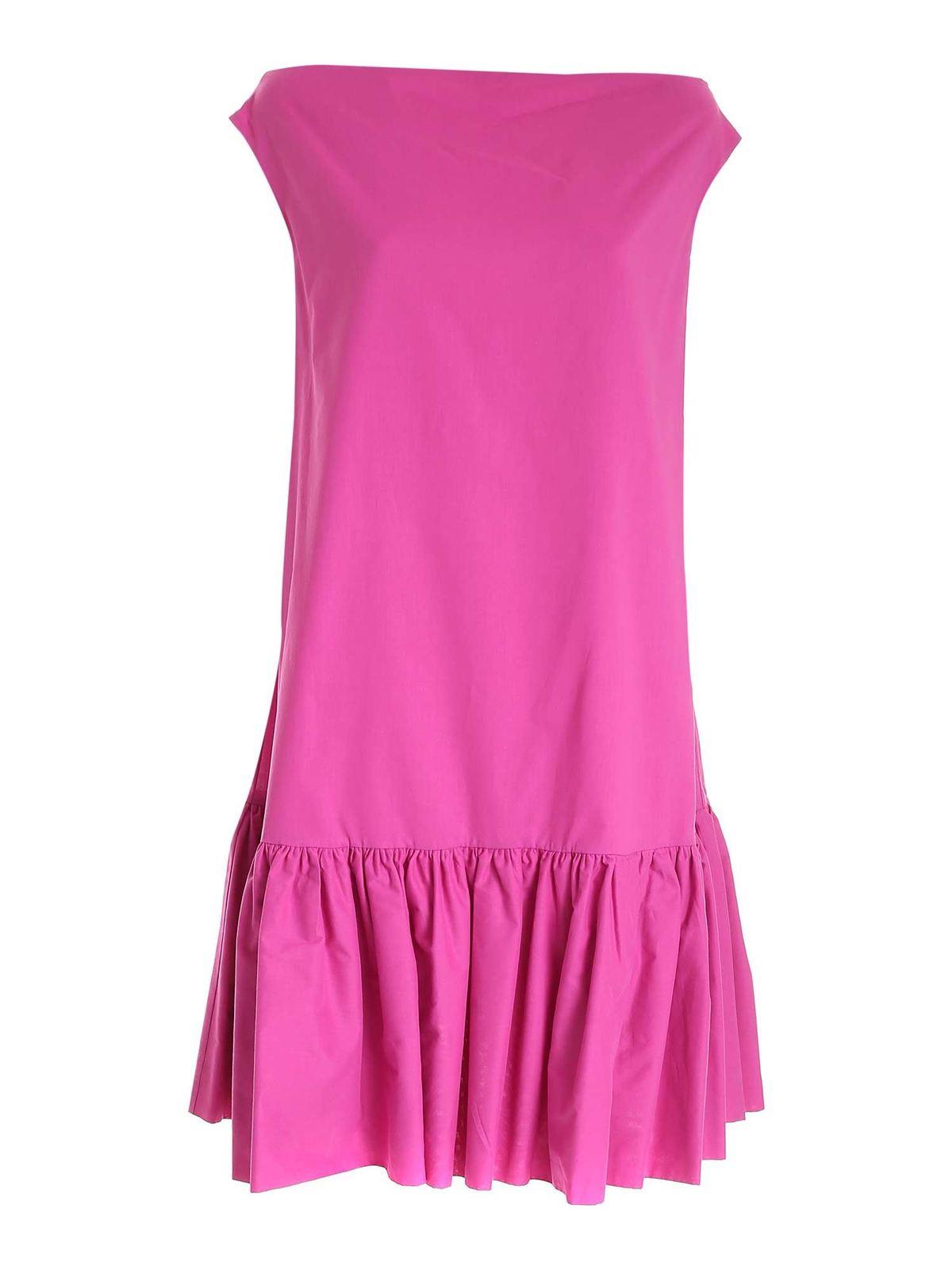 L'autre Chose FLOUNCED DRESS IN PURPLE