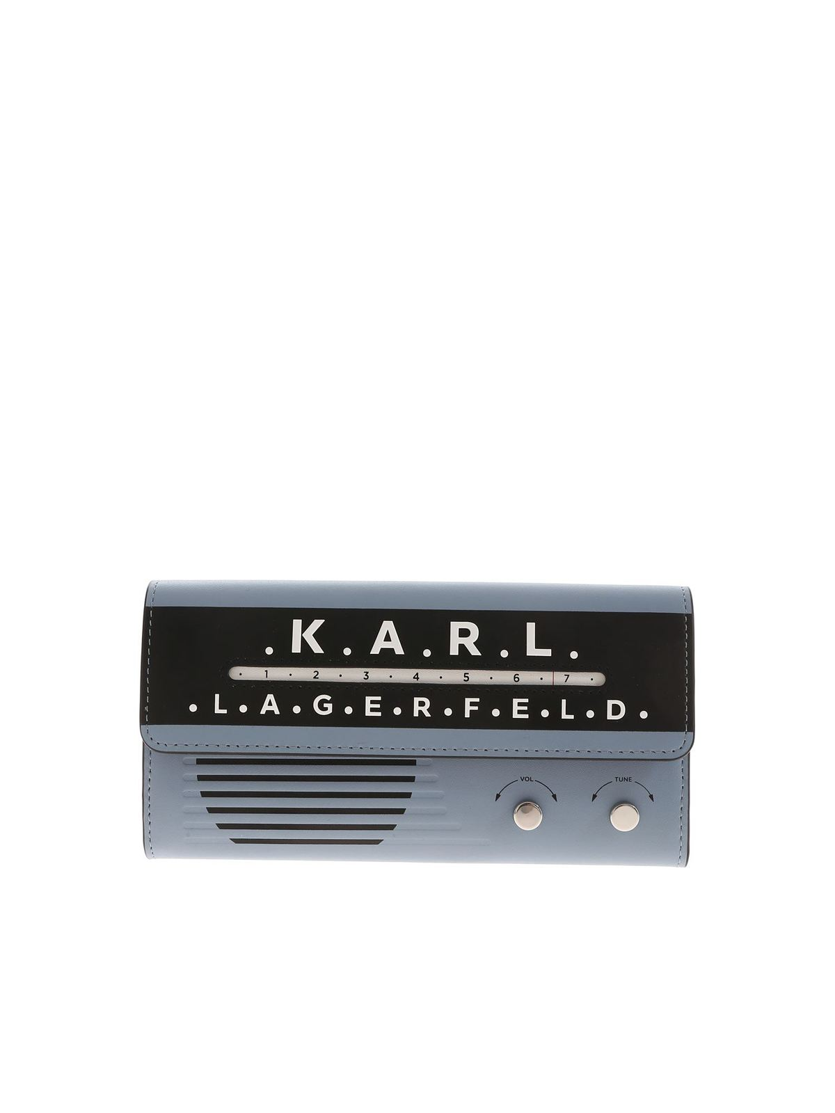 Karl Lagerfeld CONTINENTAL KIKONIKRADIO WALLET IN LIGHT BLU