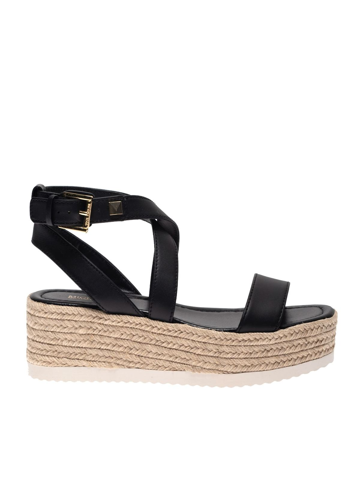 Michael Kors Leathers LOWRY SANDALS IN BLACK