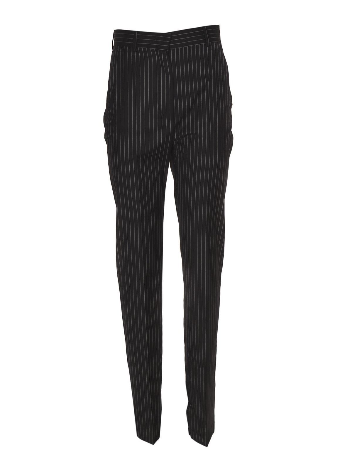 Sportmax PINSTRIPED LINCE TROUSERS IN BLUE