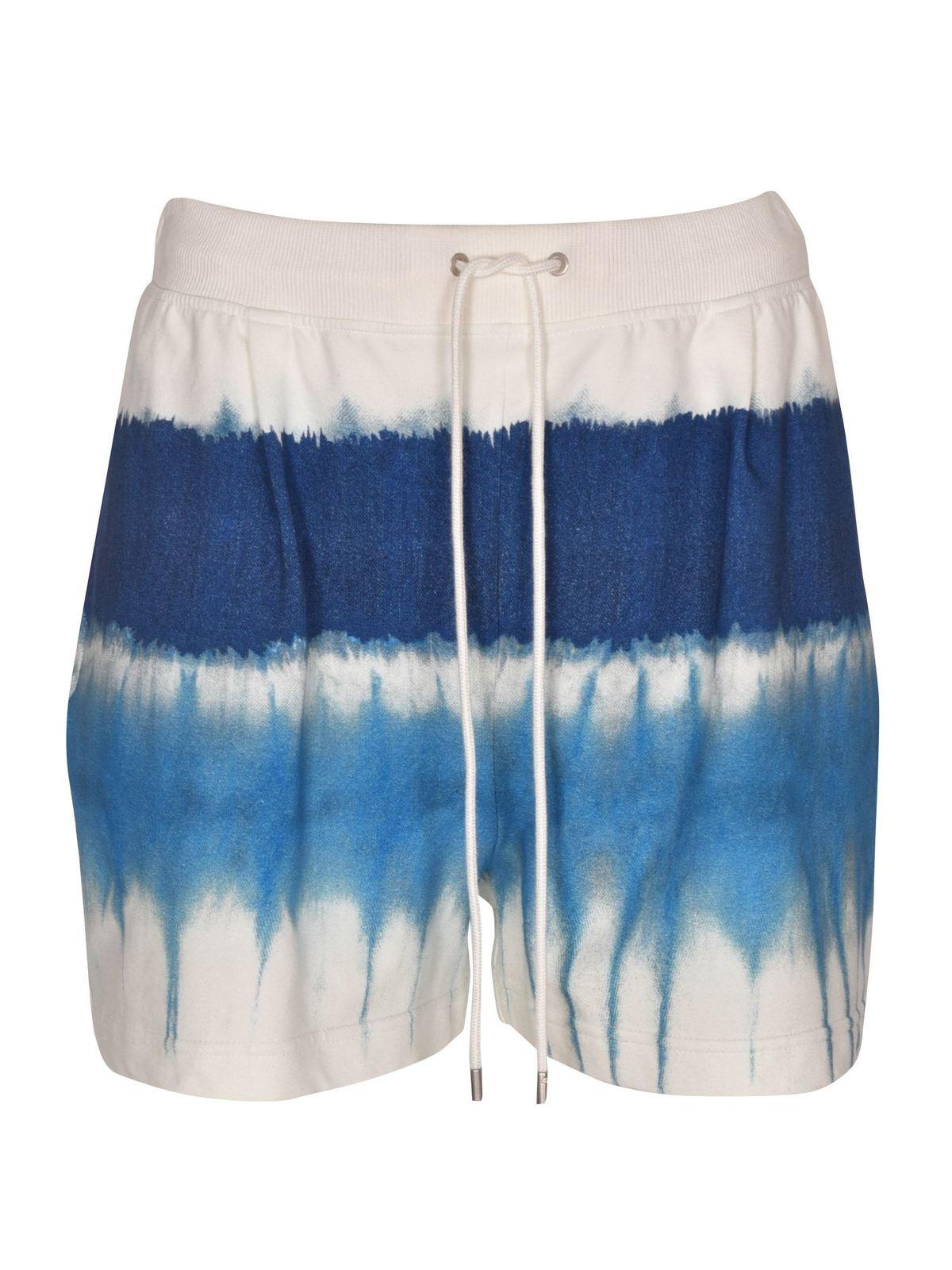 Alberta Ferretti Clothing TIE DYE SHORTS IN LIGHT BLUE