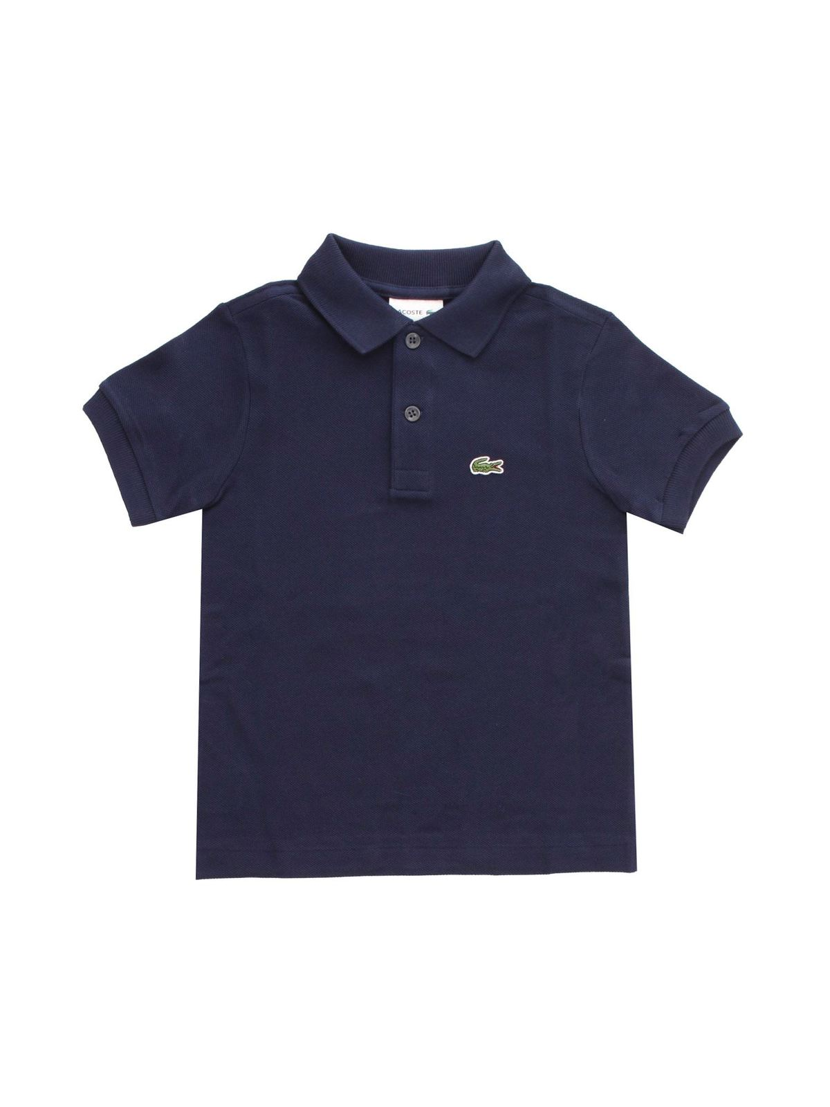 Lacoste Cottons LOGO PATCH POLO SHIRT IN BLUE