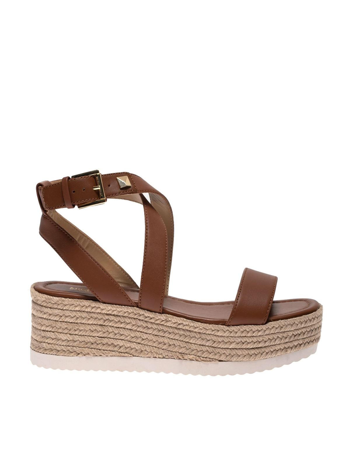 Michael Kors Leathers LOWRY SANDALS IN BROWN