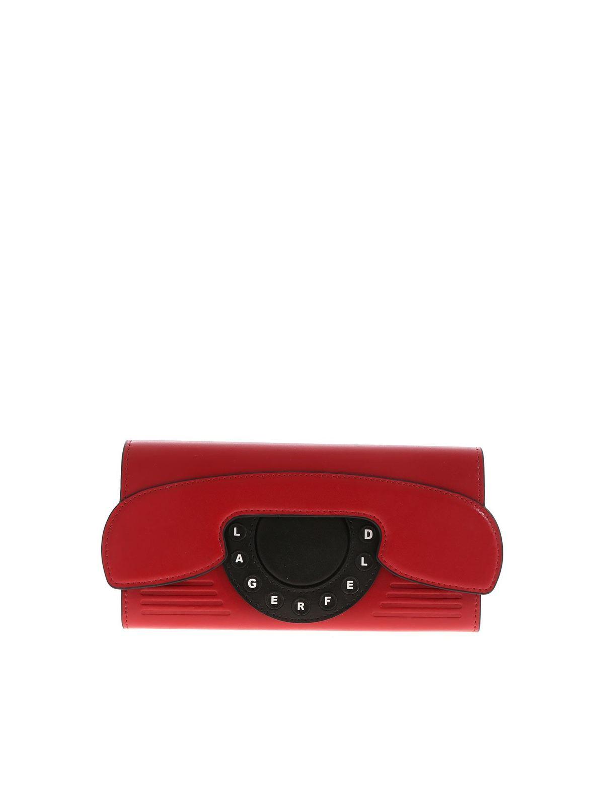 Karl Lagerfeld KIKONIK TELEPHONE WALLET IN RED