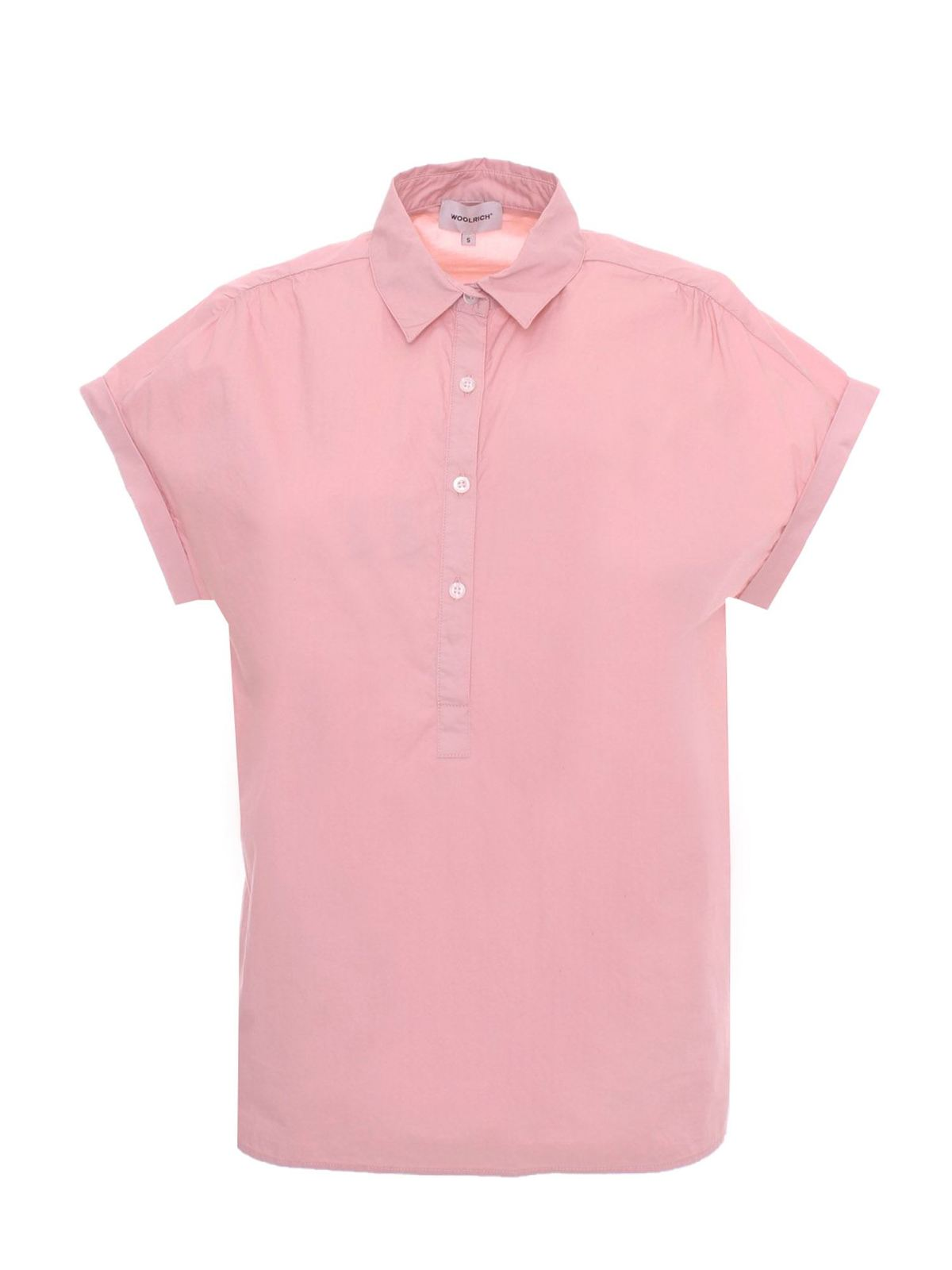 Woolrich BUTTONS BLOUSE IN PINK