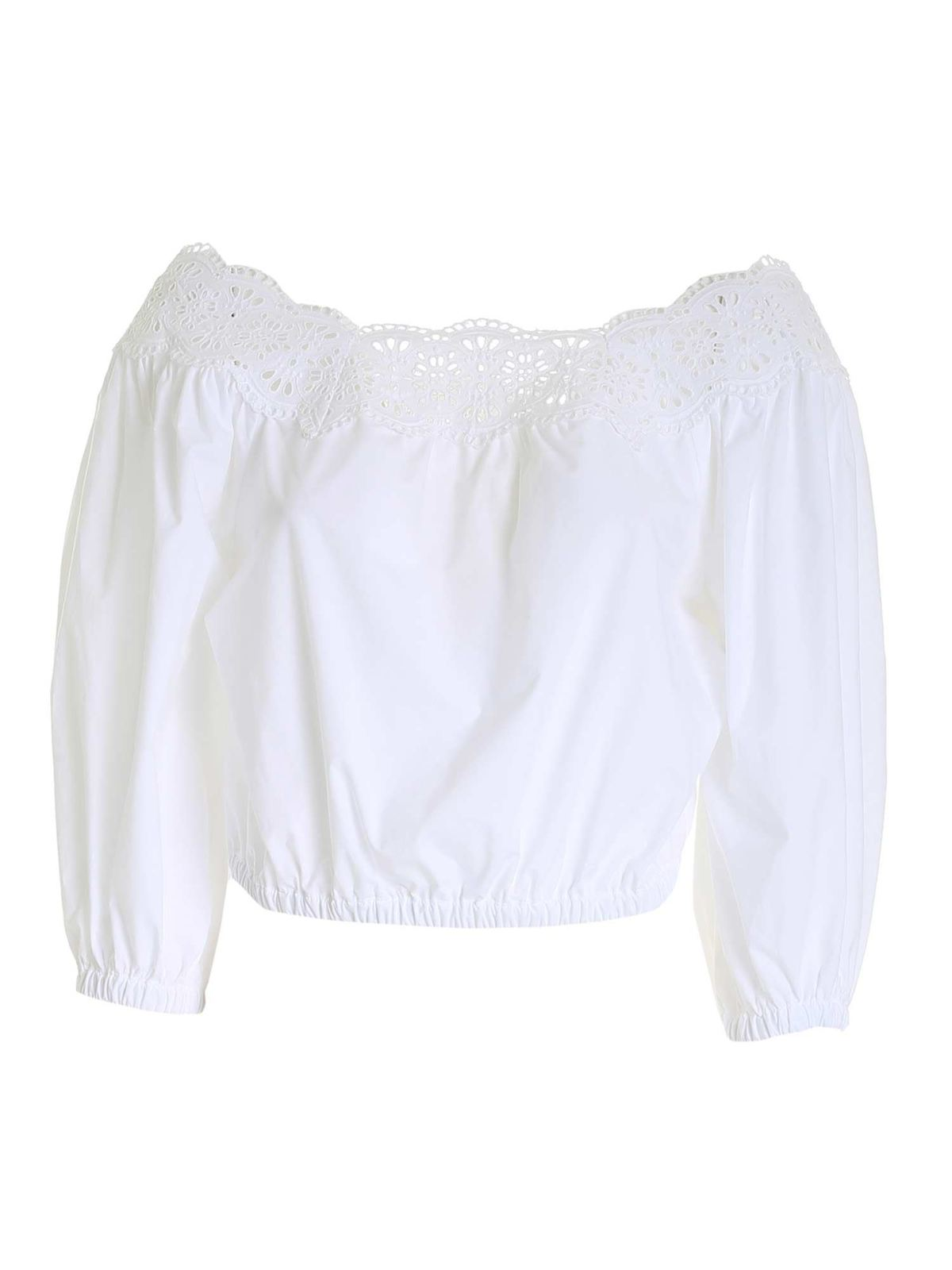 P.a.r.o.s.h. Cottons BRODERIE ANGLAISE BLOUSE