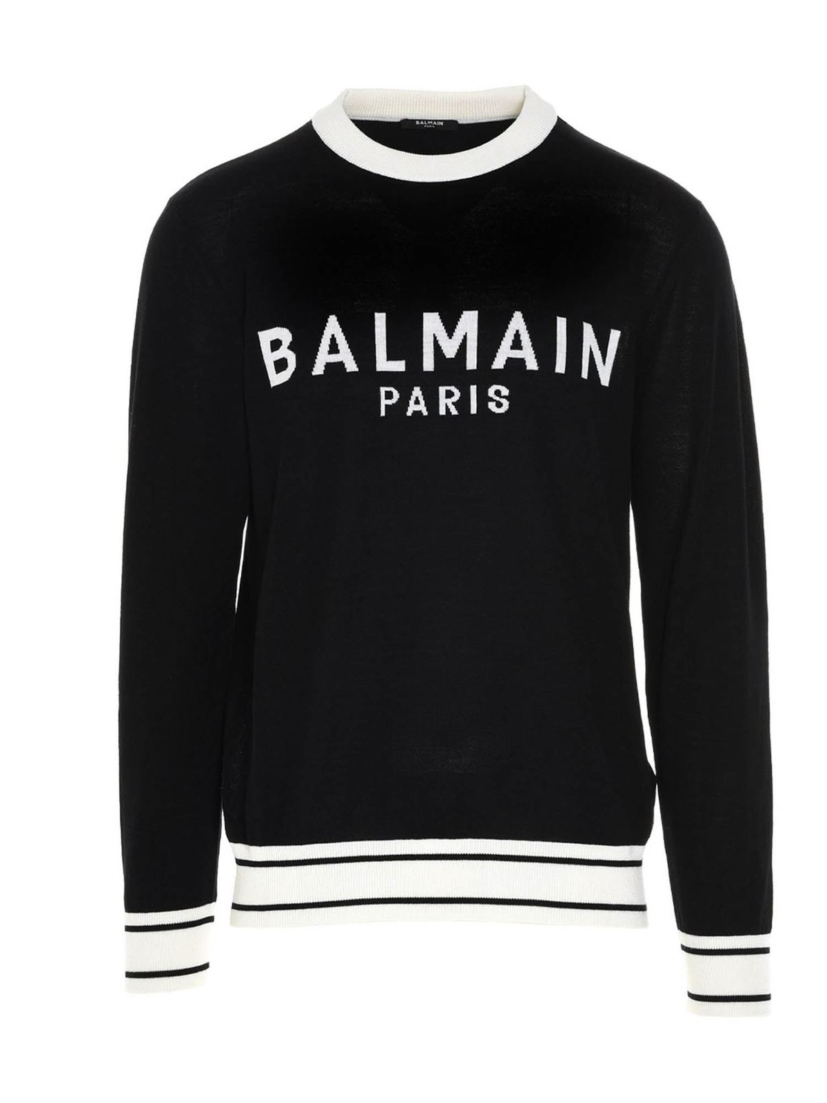 Balmain LOGO SWEATER IN BLACK