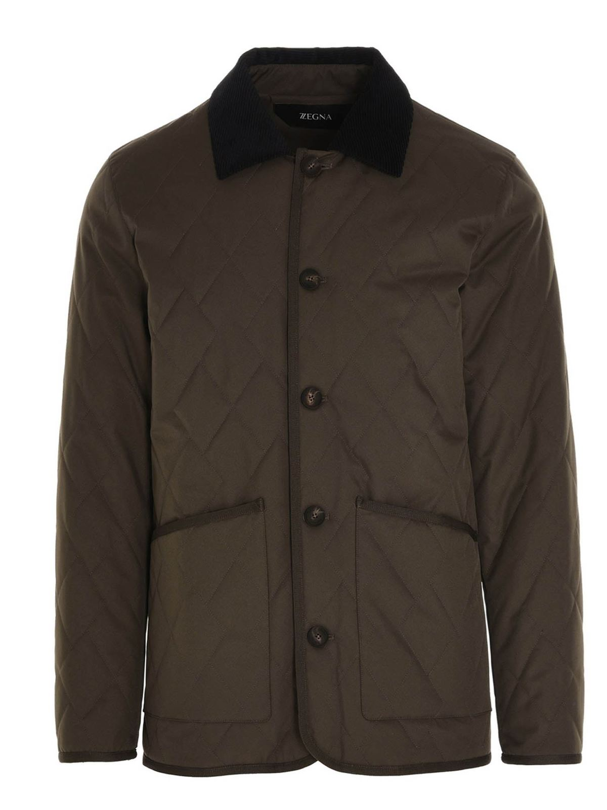 Z Zegna Jackets QUILTED JACKET IN GREEN