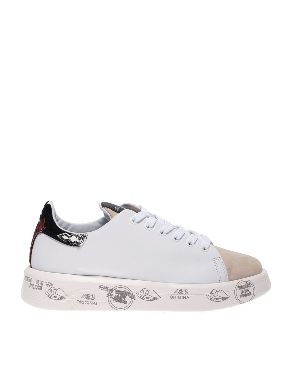 Premiata Suedes BELLE SNEAKERS IN WHITE