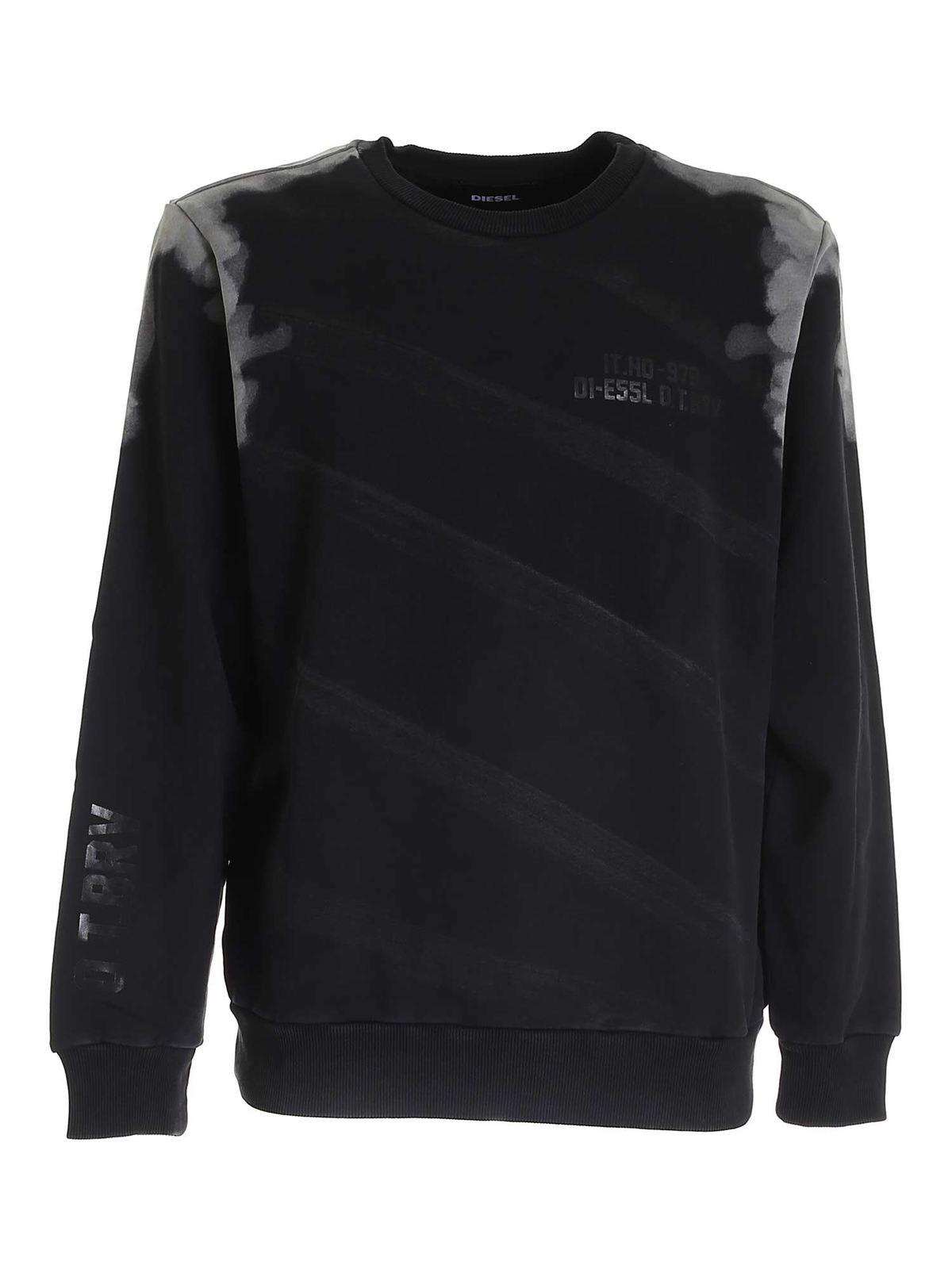Diesel Sweatshirts S-GIRK SWEATSHIRT IN BLACK