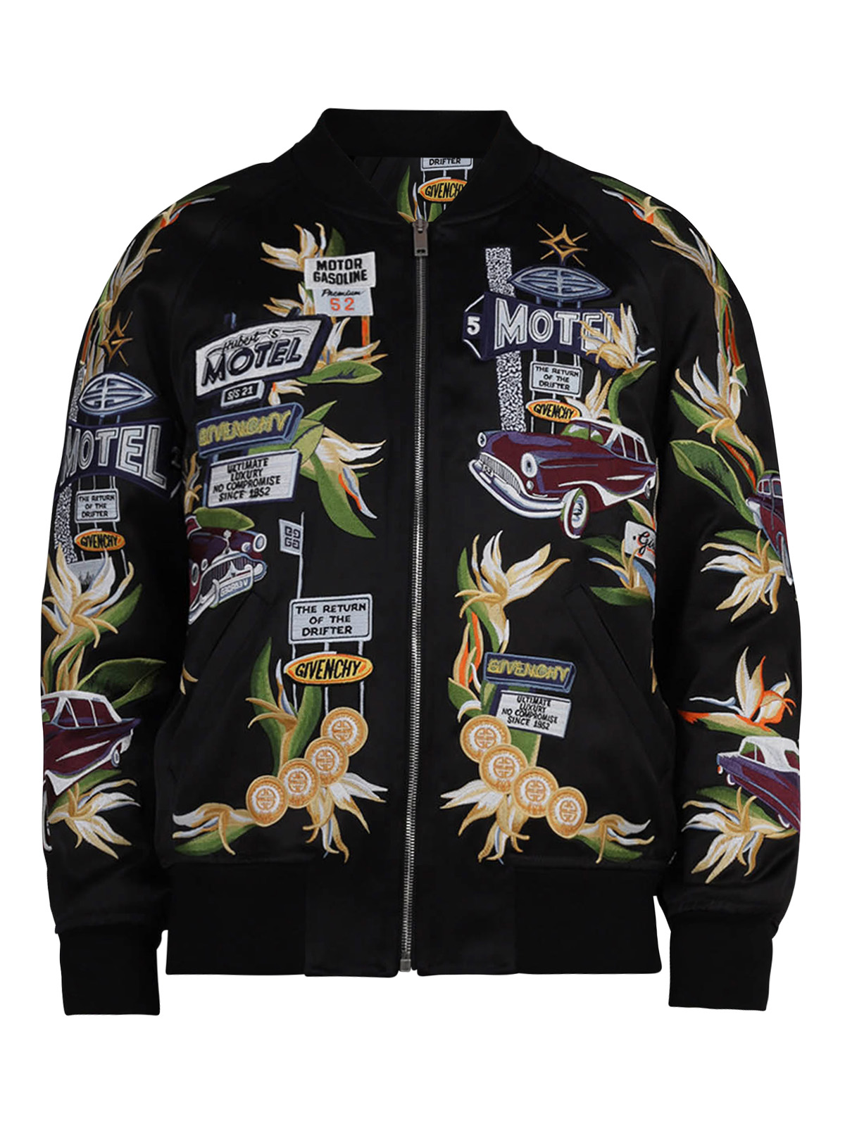 Givenchy Linings EMBROIDERED VISCOSE BOMBER JACKET