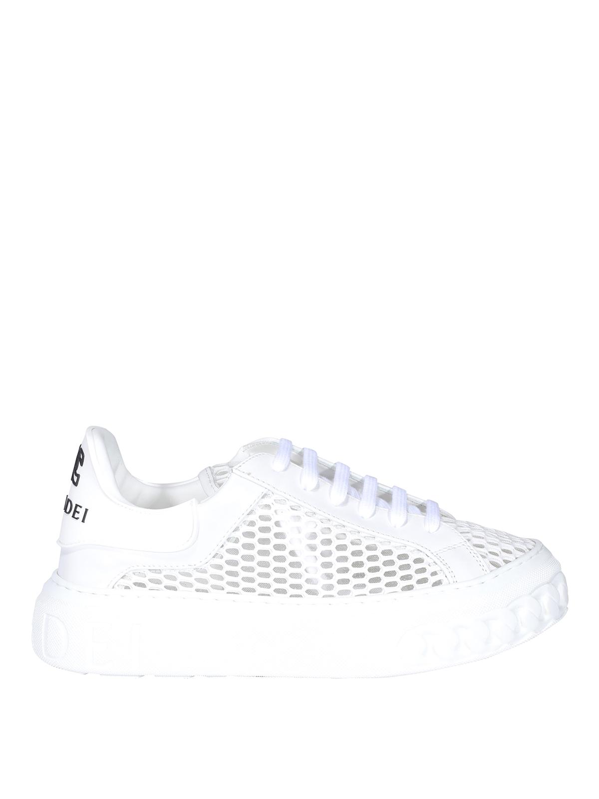 Casadei Mesh White Sneakers