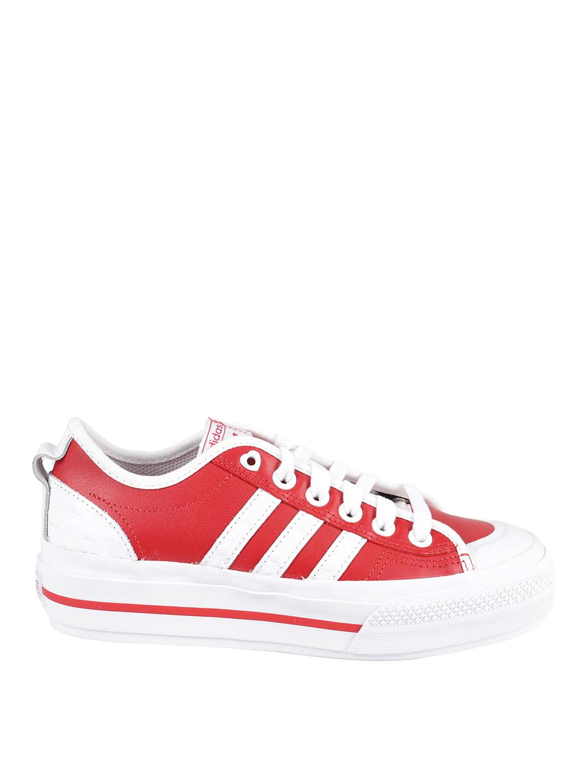 Adidas Originals Nizza Rf Platform Sneakers In Red
