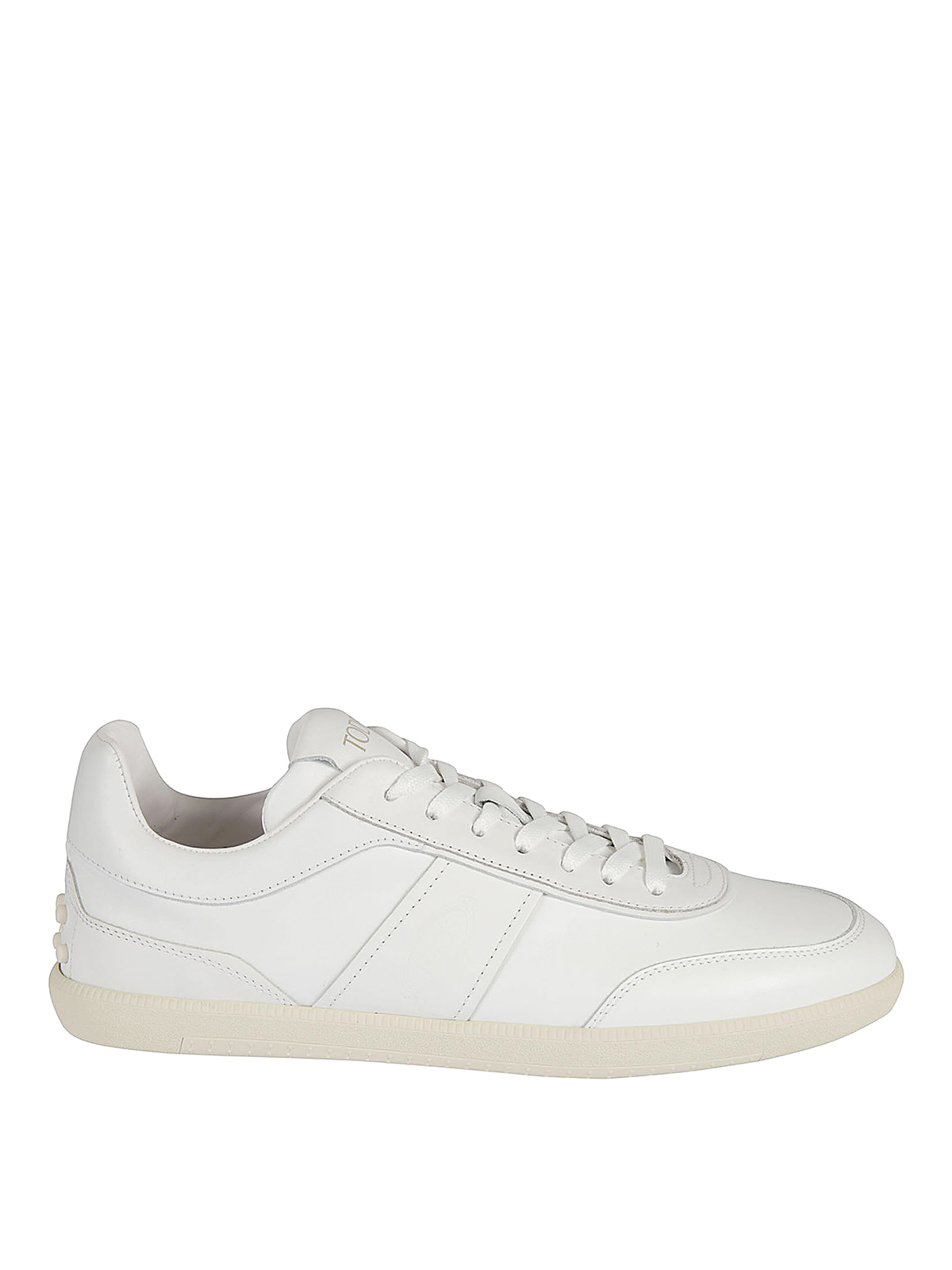 Tod's Leathers VINTAGE EFFECT LEATHER SNEAKERS
