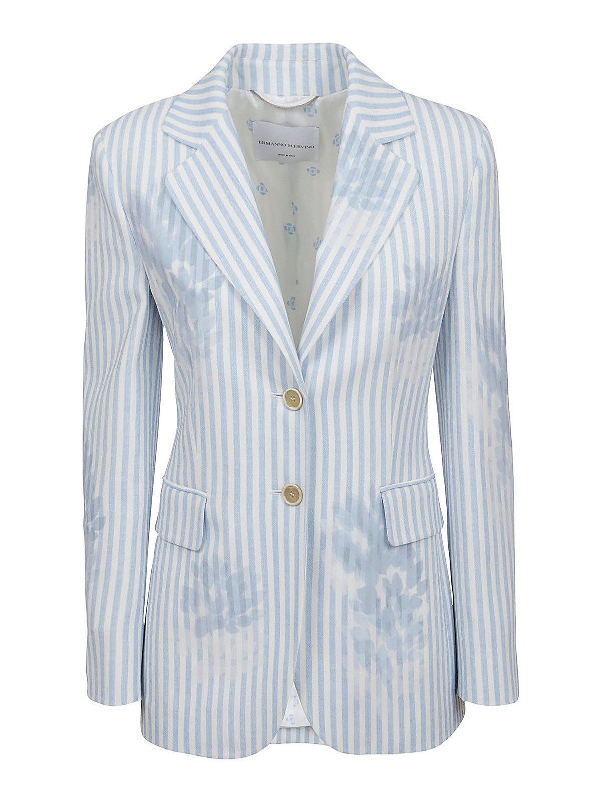 ERMANNO SCERVINO Linings STRIPED VISCOSE BLAZER