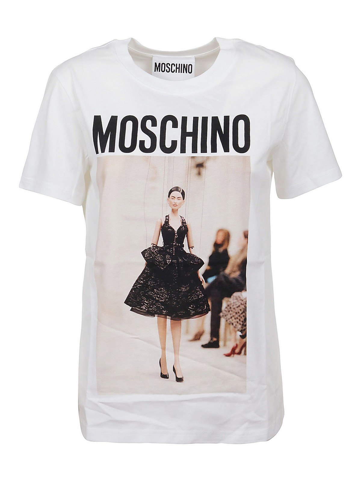 Moschino T-shirts PRINTED COTTON T-SHIRT