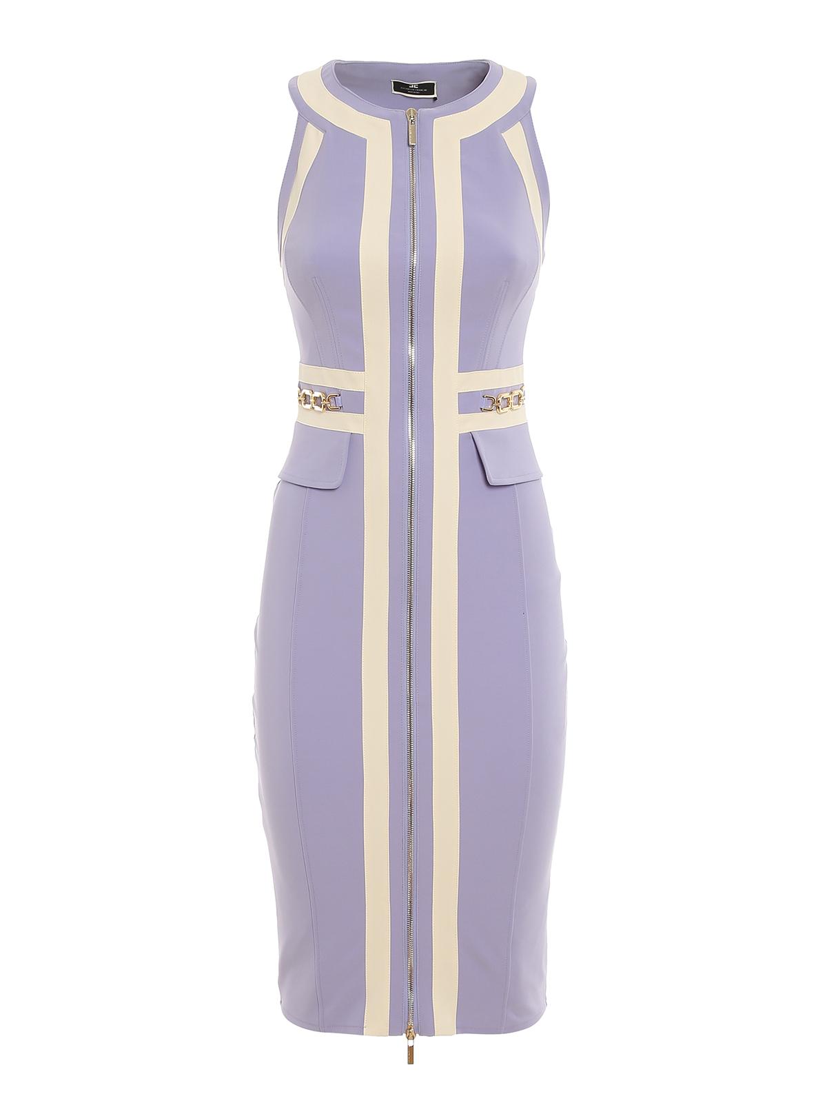Elisabetta Franchi TWILL SLEEVELESS DRESS