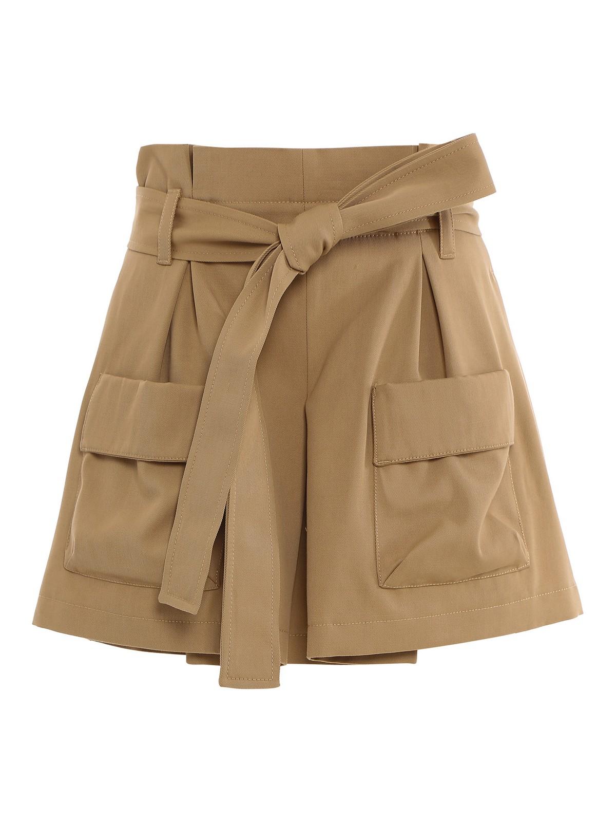 Red Valentino Shorts GABARDINE HIGH WAIST SHORTS