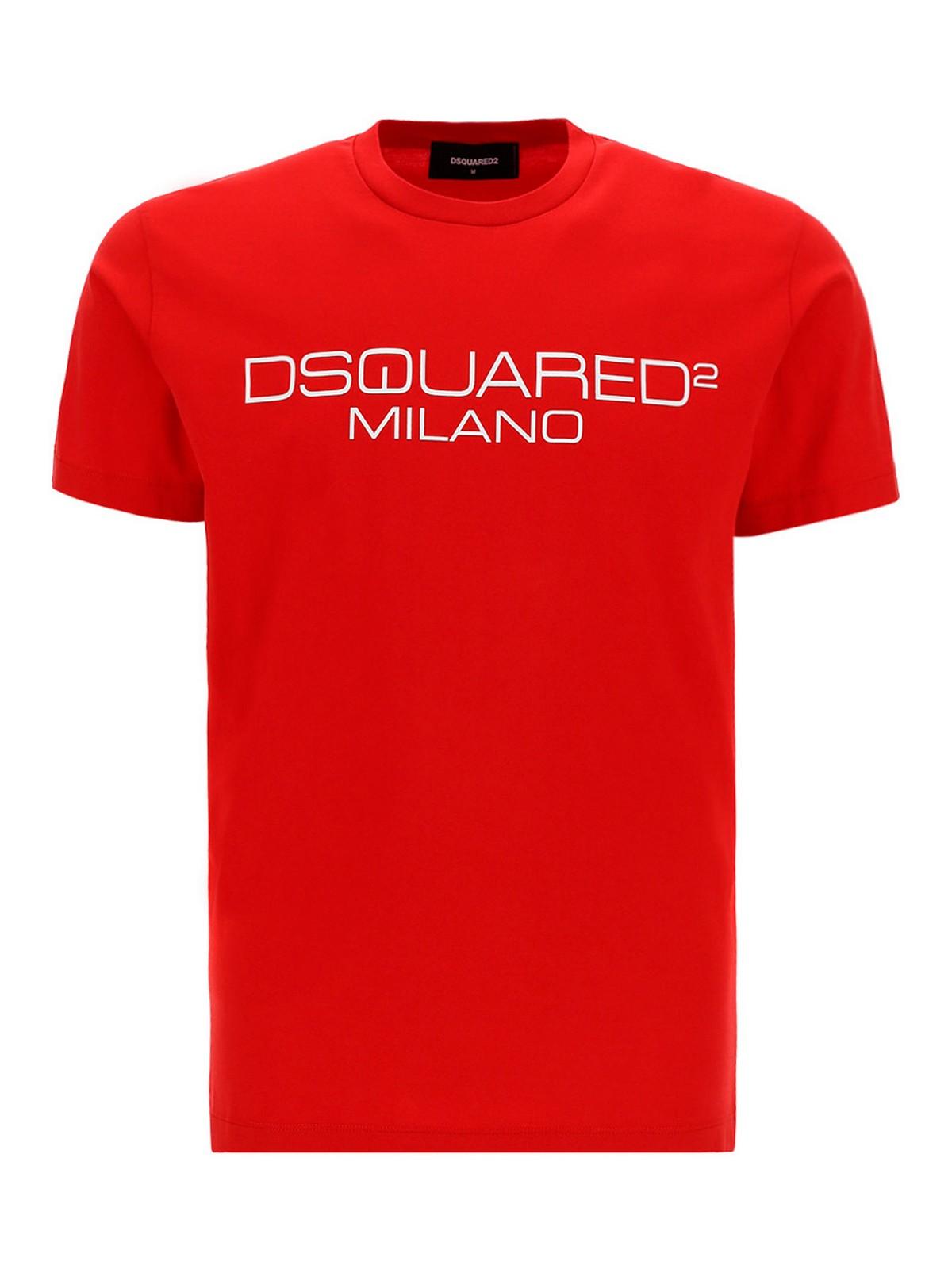 Dsquared2 Clothing LOGO PRINT COTTON T-SHIRT