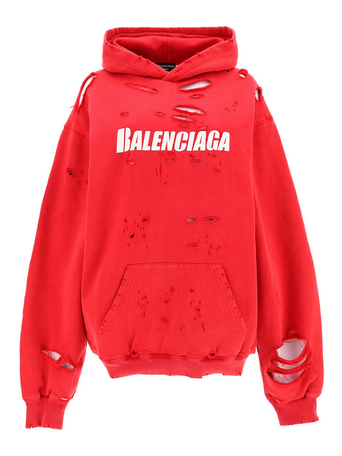 Balenciaga Cottons DESTROYED HOODIE
