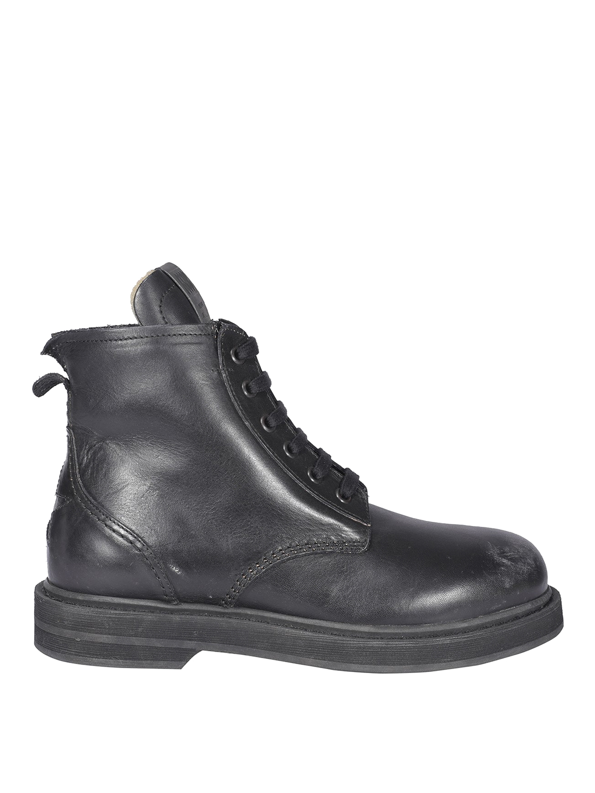 Golden Goose Leathers DISTRESSED EFFECT COMBAT BOOTS