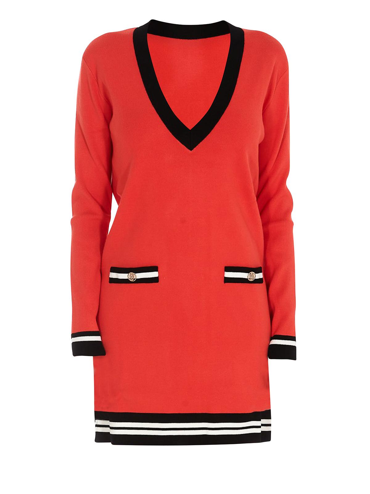 Liu •jo RED V-NECKLINE DRESS