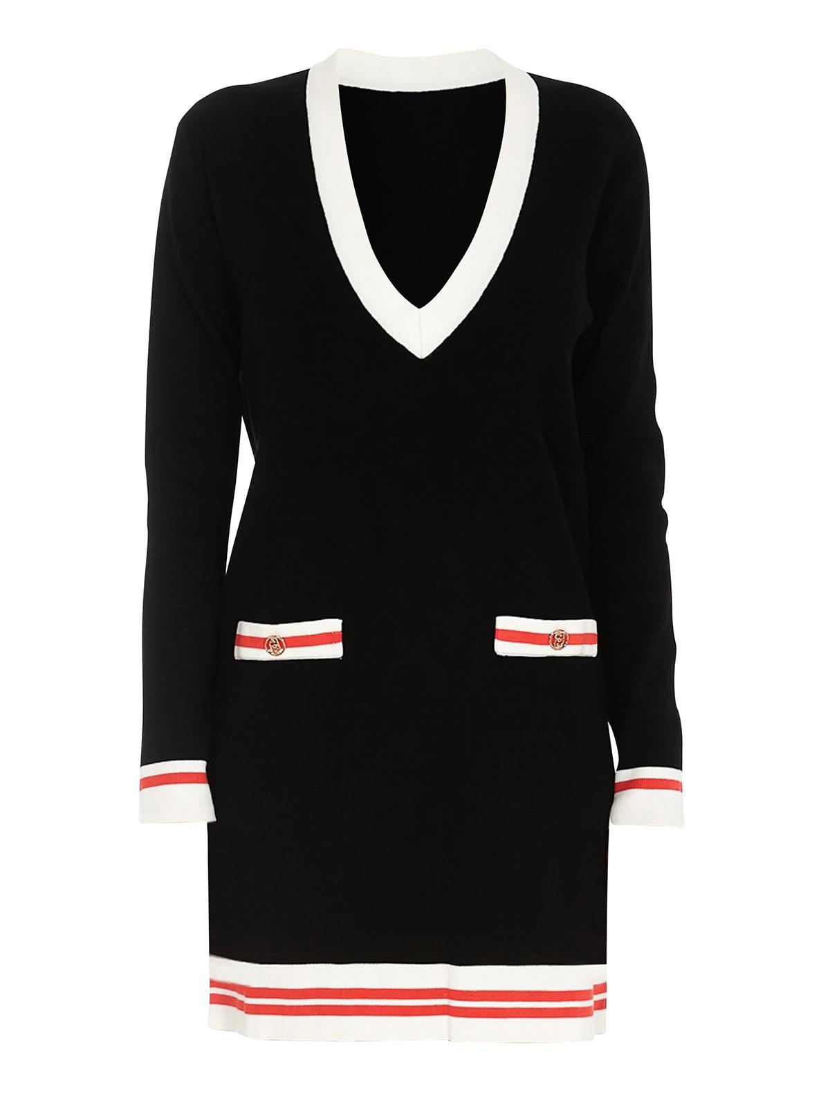 Liu •jo BLACK V-NECKLINE DRESS