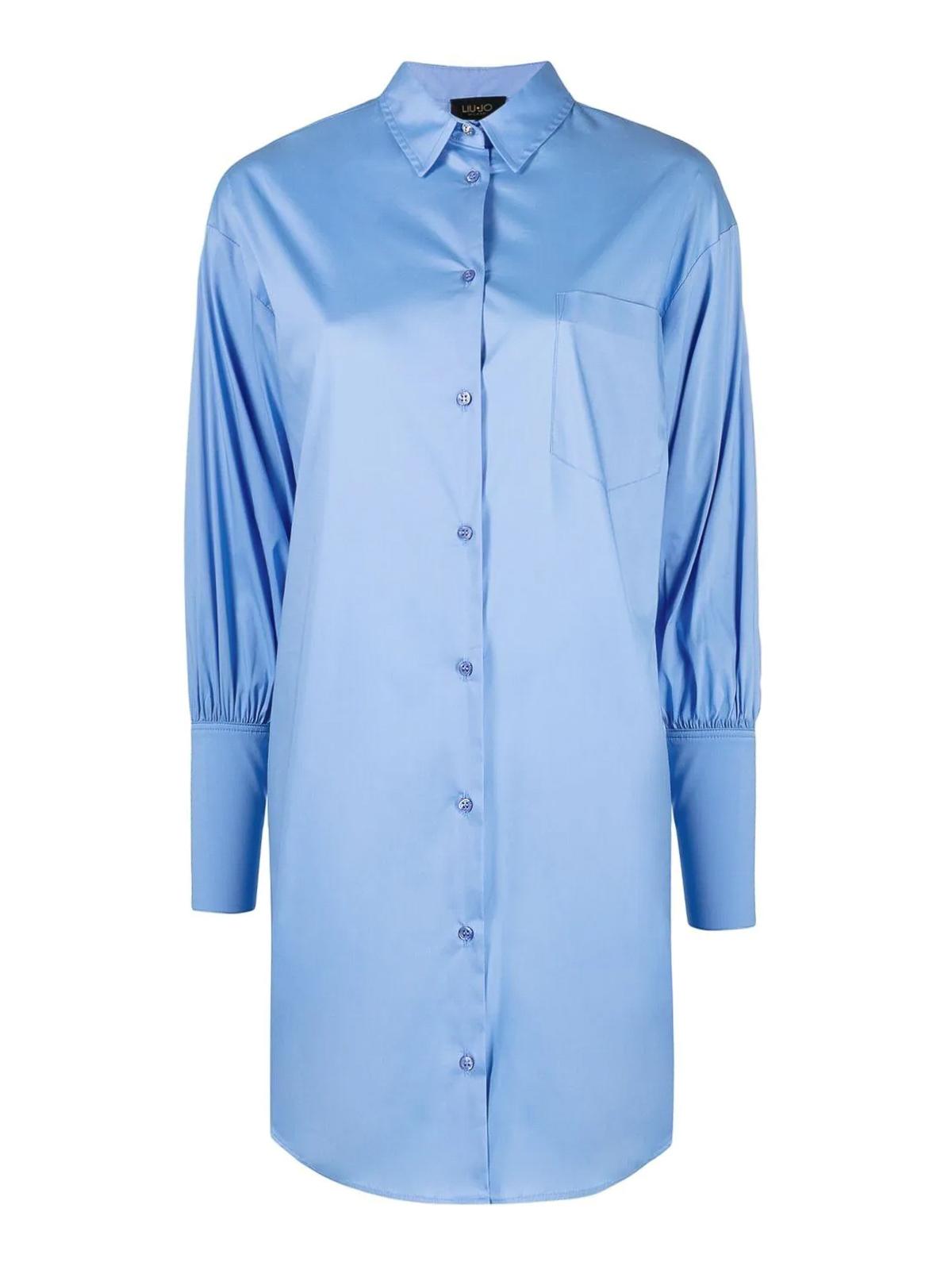 Liu •jo Mini dresses COTTON BLEND SHIRT DRESS