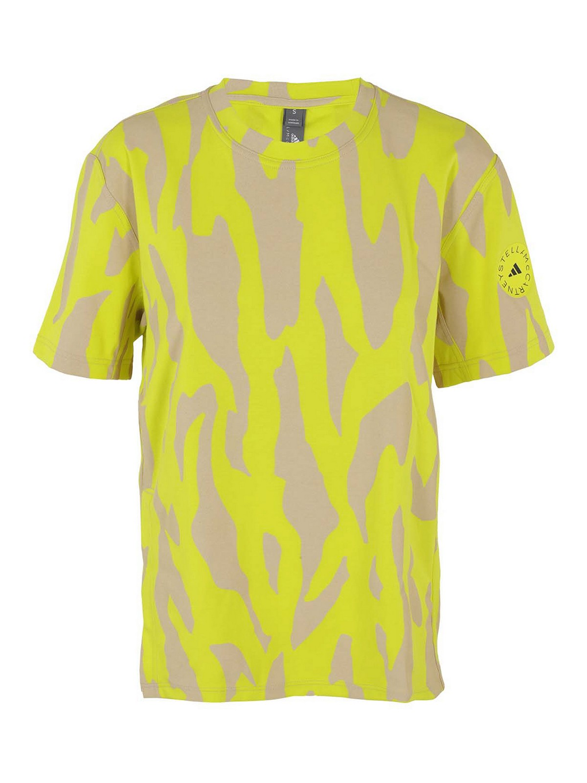 Adidas By Stella Mccartney T-shirts FLUO MACULATED T-SHIRT