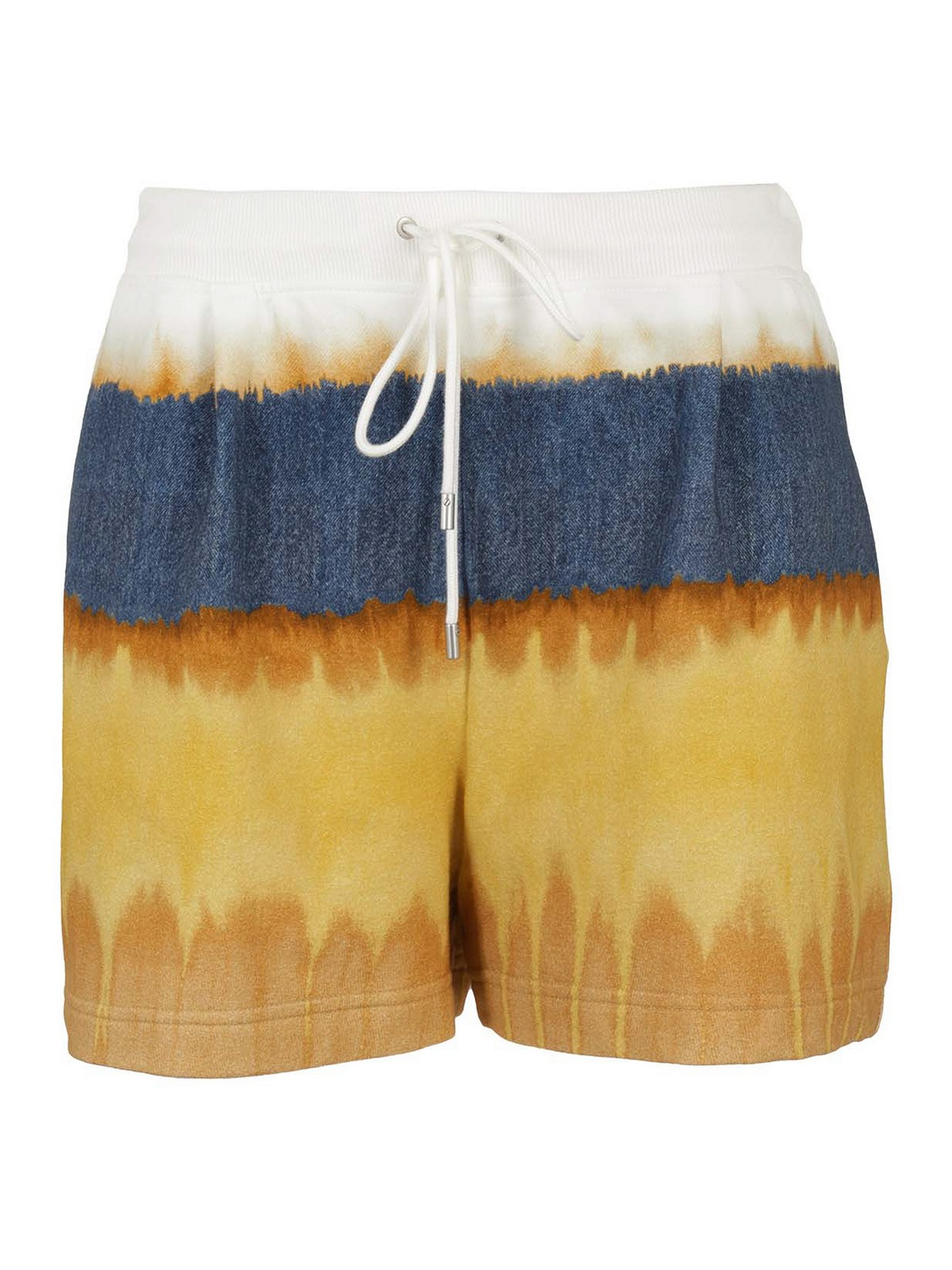 Alberta Ferretti Shorts TRI-COLOURED COTTON SHORTS