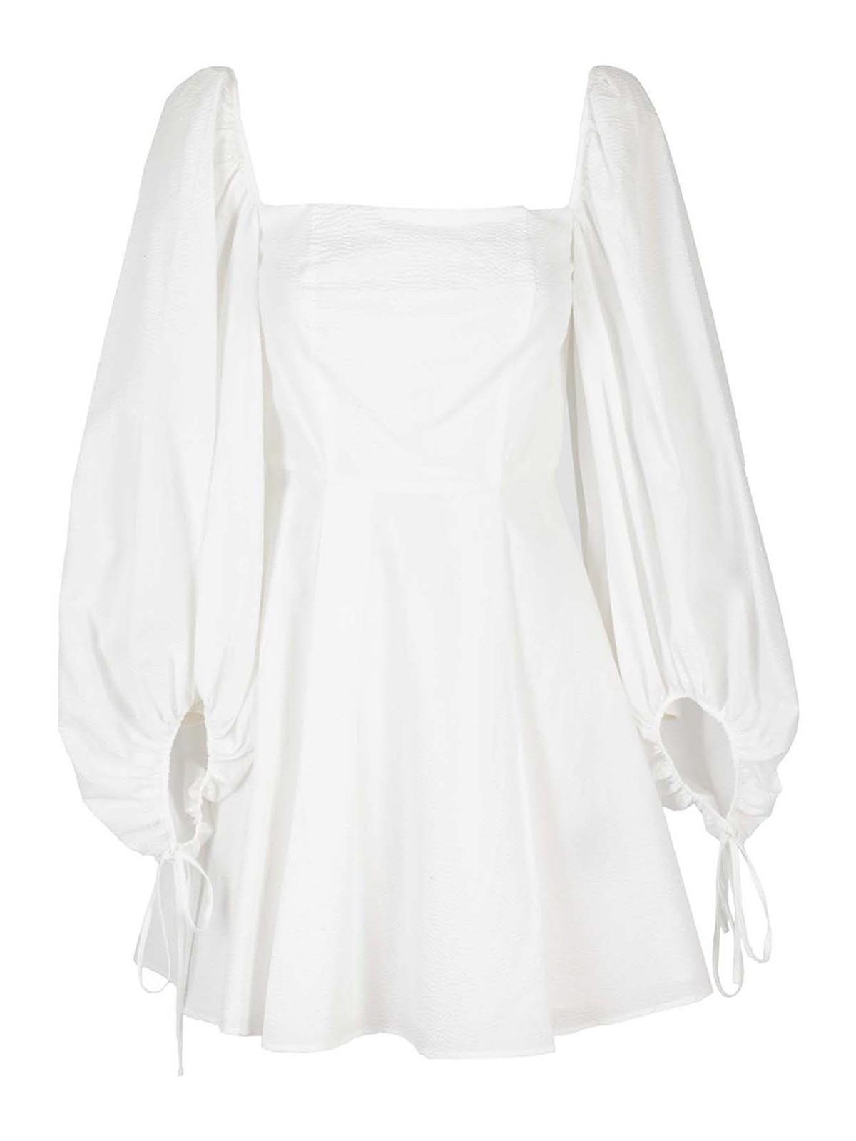 Federica Tosi Cottons SQUARED NECKLINE COTTON DRESS