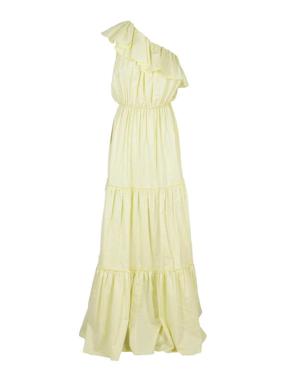Federica Tosi Clothing ONE SHOULDER FLOUNCED DRESS