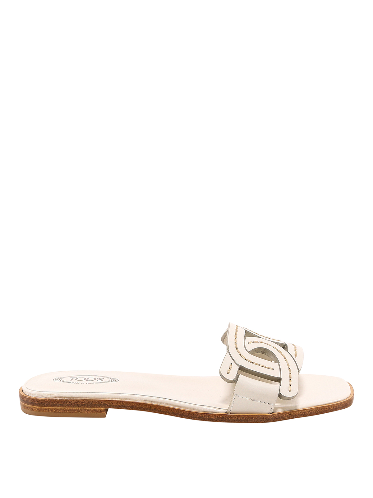Tod's Leathers LEATHER FLAT SANDALS