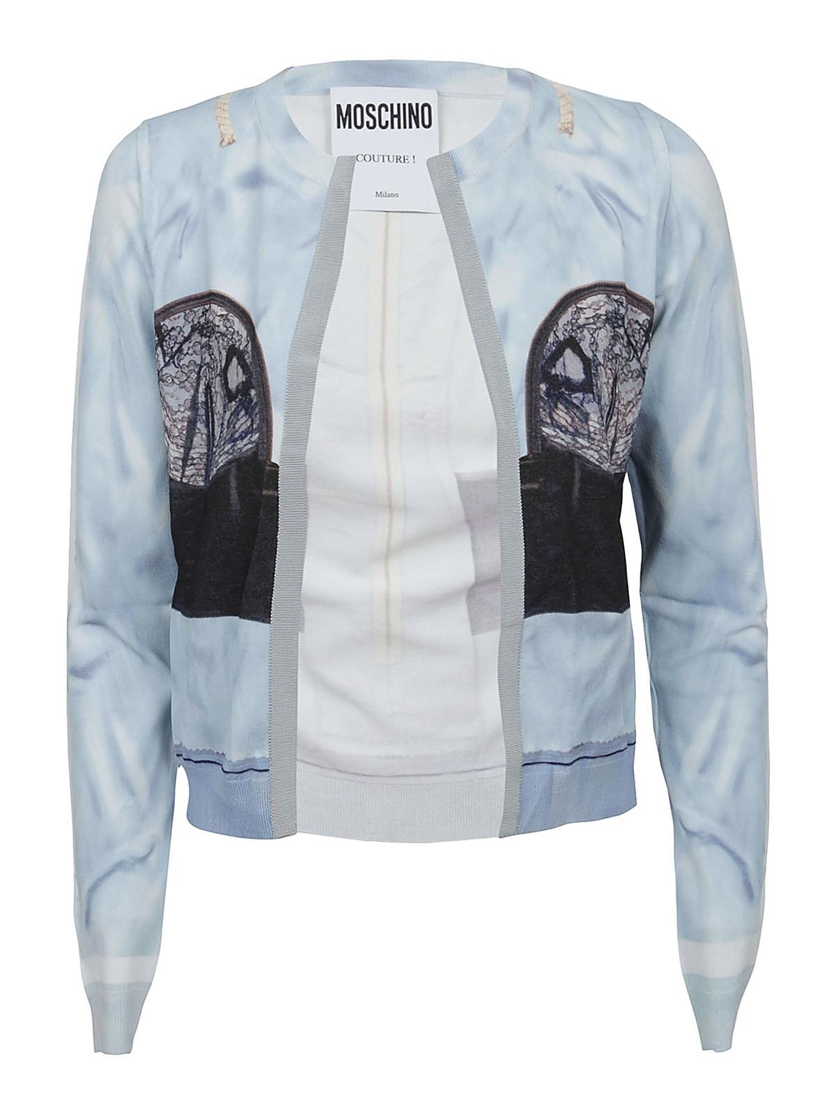 Moschino Clothing PRINTED CARDIGAN