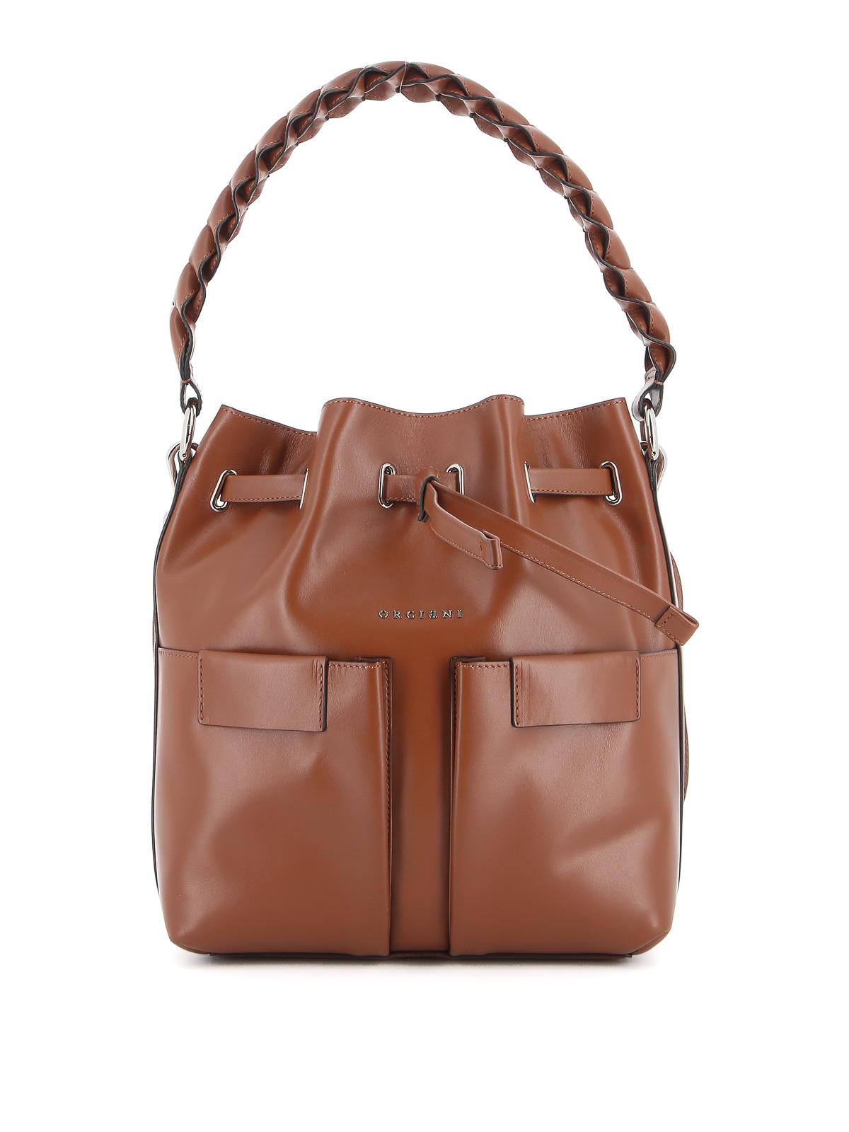 Orciani Leathers TESSA M LIBERTY VANITY BUCKET BAG