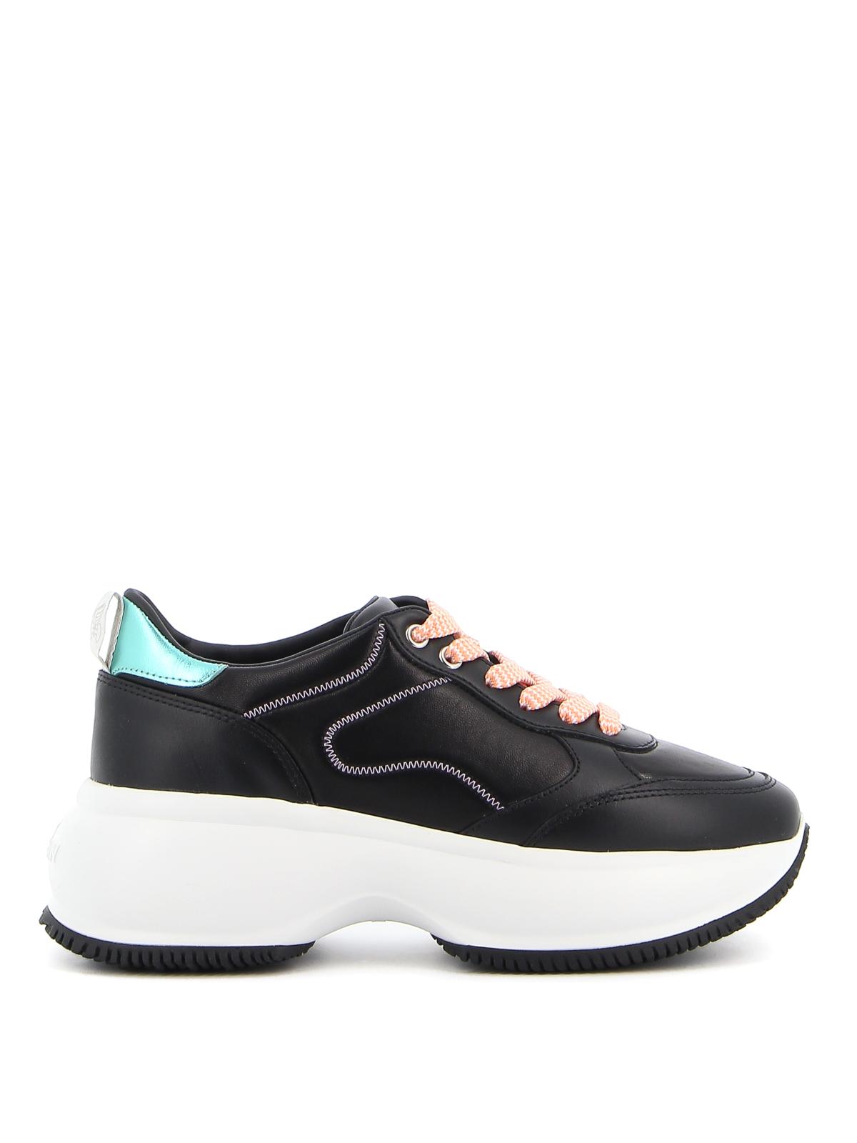 Shop Hogan Maxi I Active Sneakers In Black