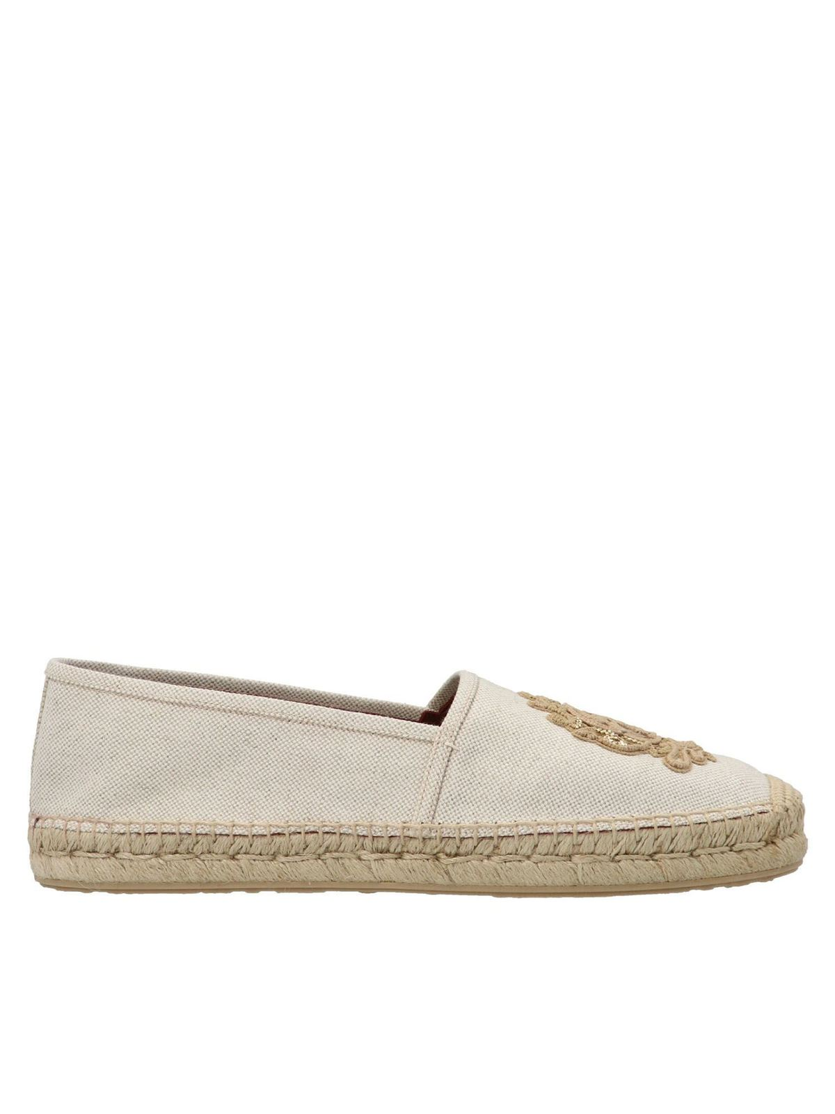 Dolce & Gabbana Canvases EMBROIDERY ESPADRILLES IN NATURAL COLOR