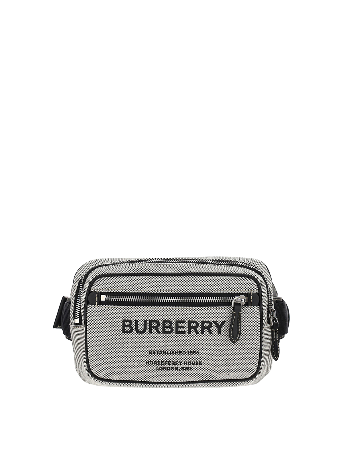 Burberry Leathers COTTON BELT BAG WITH LOGO