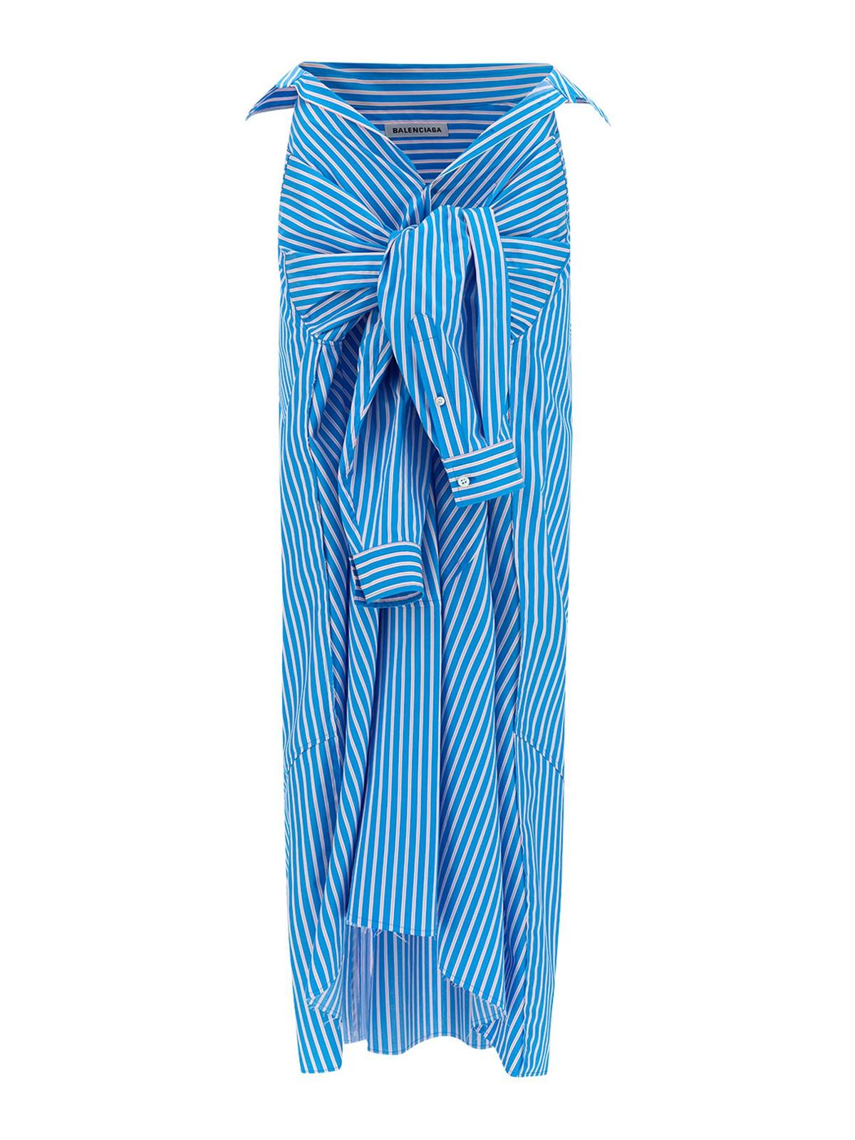 Balenciaga STRIPED SHIRT-STYLE SKIRT