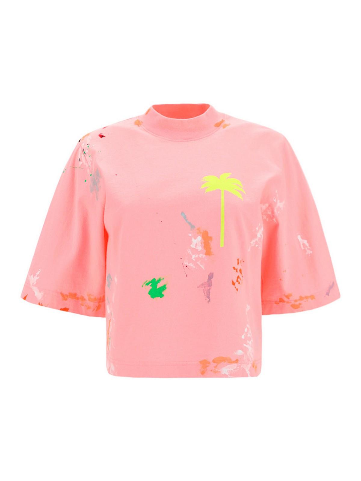 Palm Angels Cottons PALM TREE PRINT T-SHIRT
