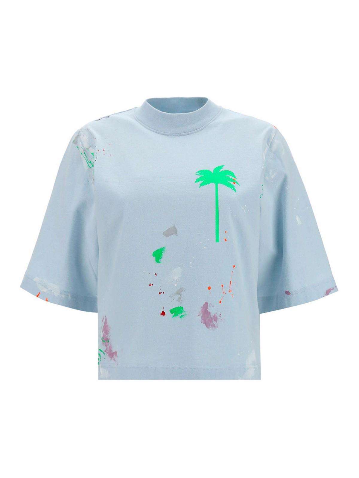 Palm Angels PALM TREE PRINT T-SHIRT
