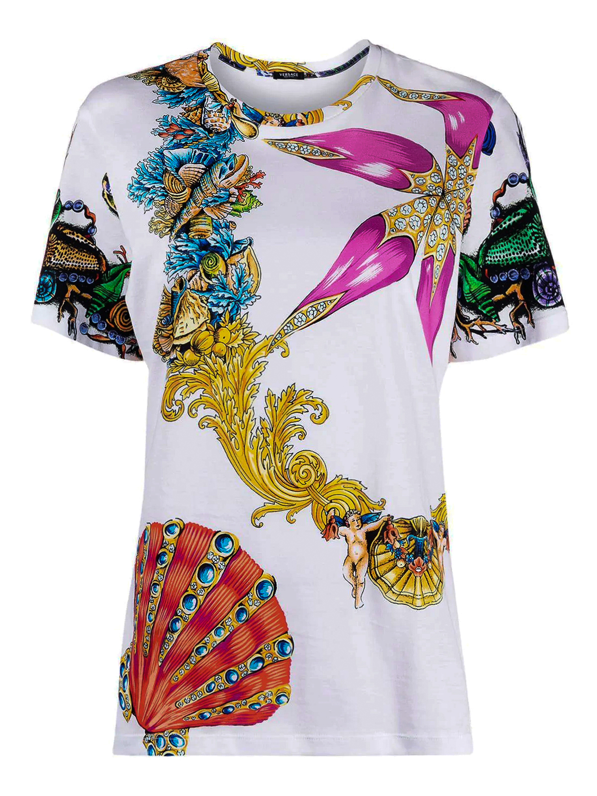 Versace BAROQUE PRINT COTTON T-SHIRT