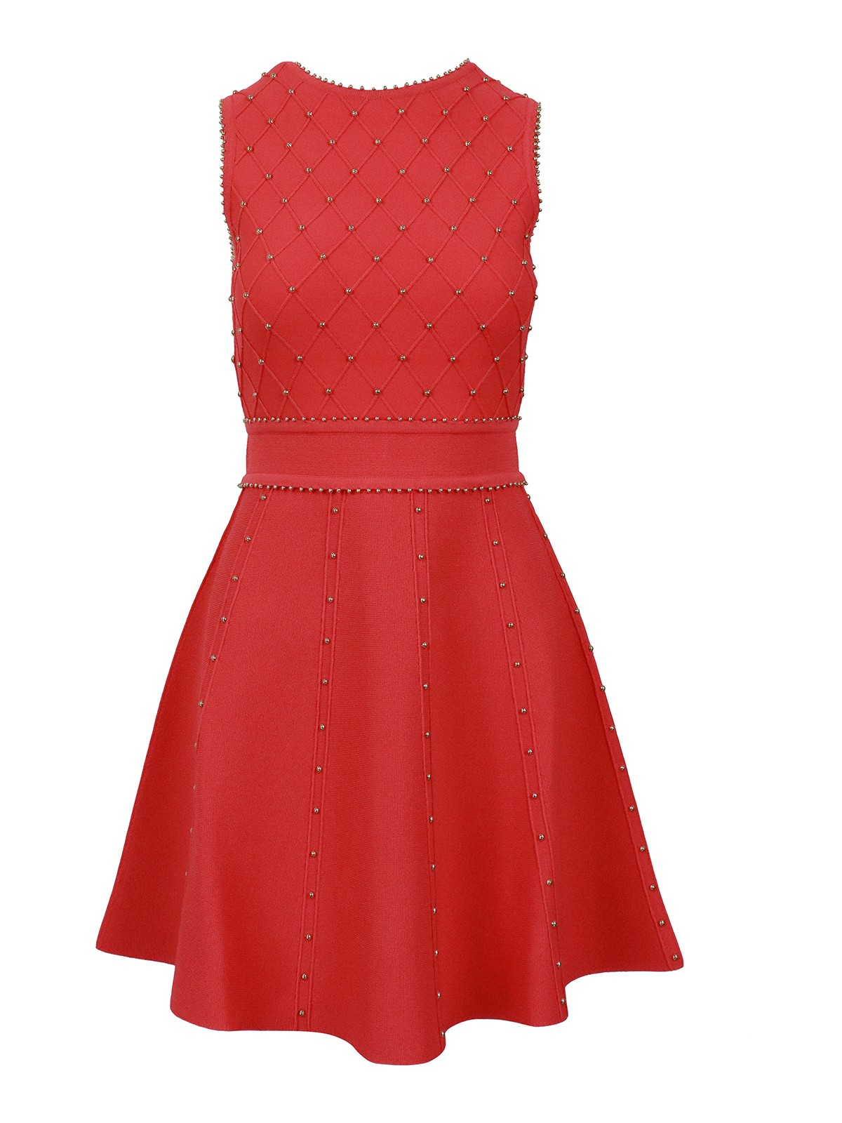 Elisabetta Franchi Midi dresses STUDDED KNITTED DRESS