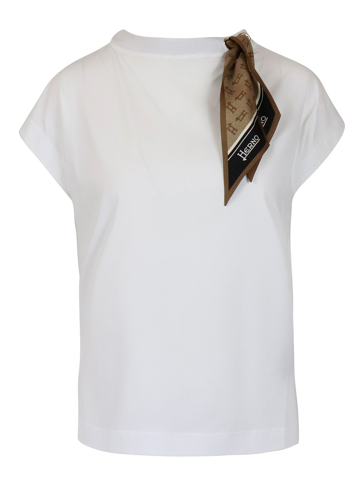 Herno SCARF DETAILED T-SHIRT