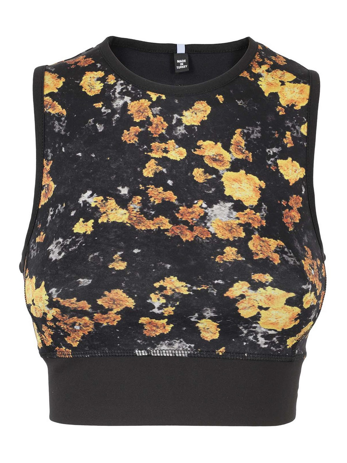 Mcq By Alexander Mcqueen Tops FLORAL PRINT CROPPED TOP