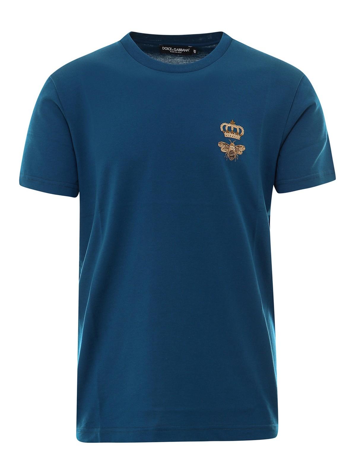 Dolce & Gabbana T-shirts EMBROIDERED T-SHIRT
