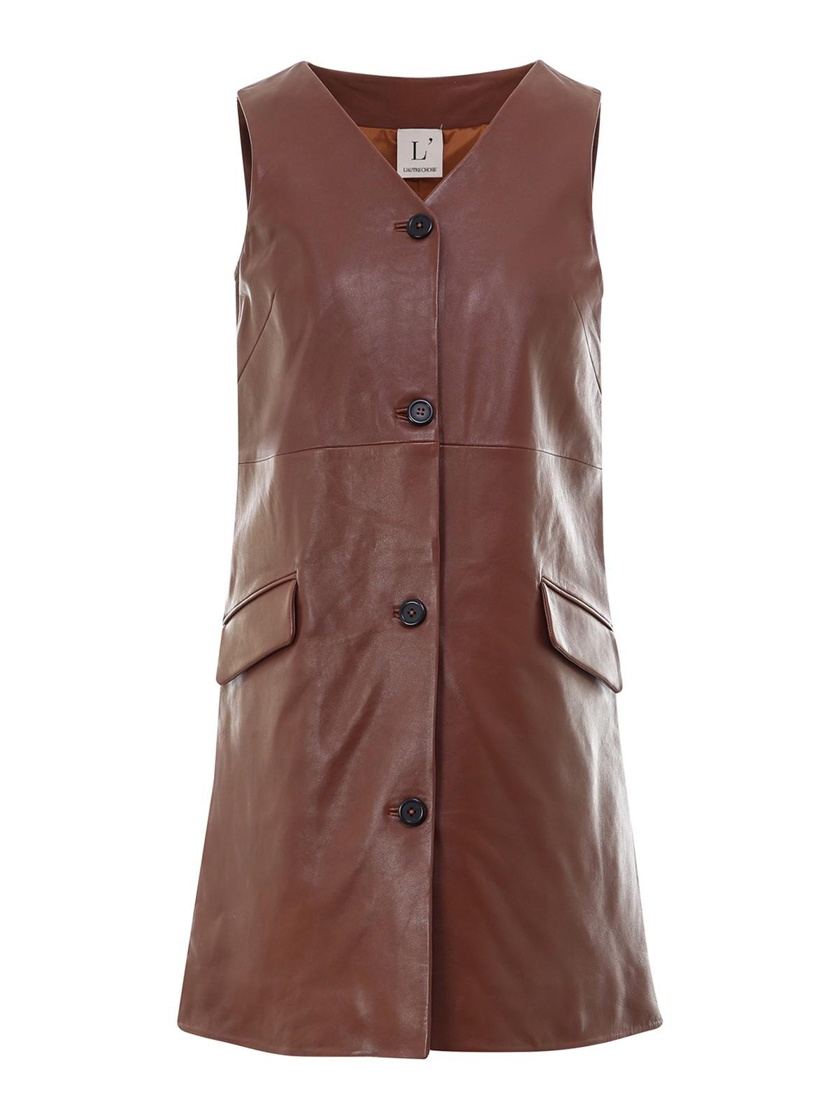 L'autre Chose Leathers LEATHER SHORT DRESS