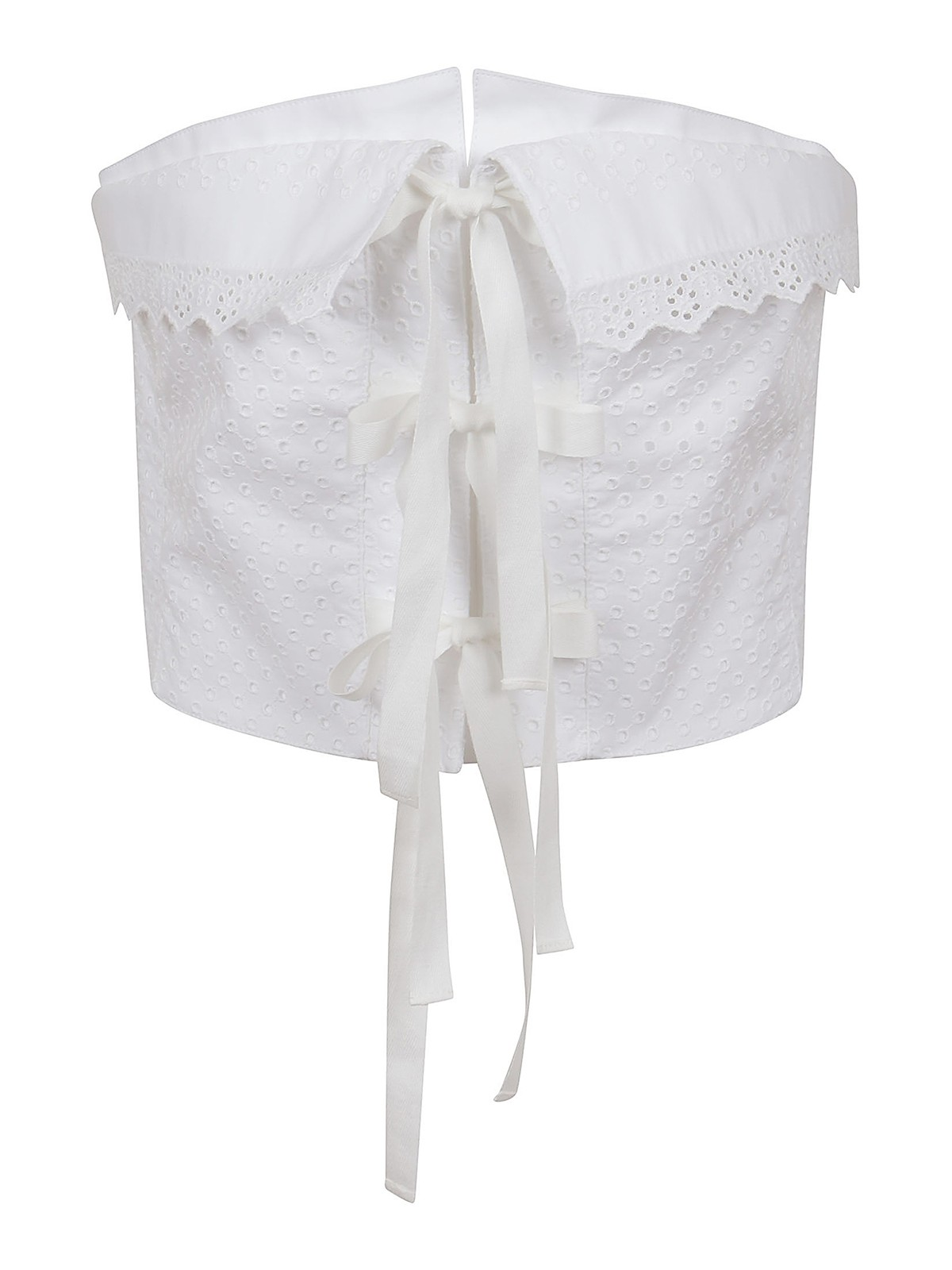Philosophy Di Lorenzo Serafini BRODERIE ANGLAISE STRAPLESS TOP